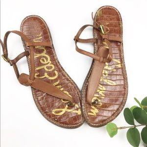 Sam Edelman Gigi Brown Leather Thong Sandals 7.5M
